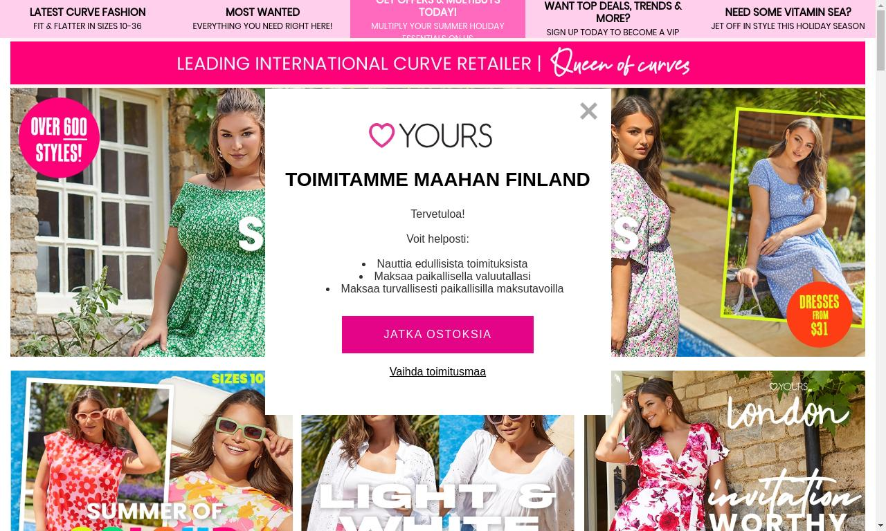 YoursClothing.com 2